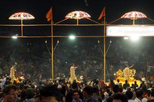 Ceremonia Aarti en Benares